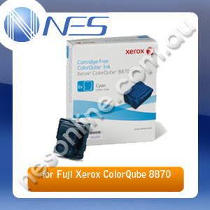 Fuji Xerox Genuine 108R00985 6 Pack CYAN Ink Sticks for Fuji Xerox CQ8870/CQ8880 17.3K Pages [108R00985]