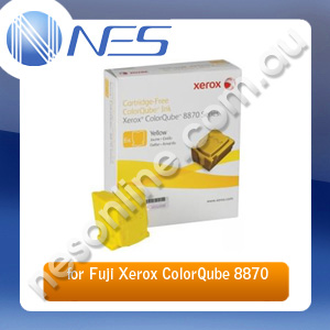 Fuji Xerox Genuine 108R00987 6 Pack YELLOW Ink Sticks for Fuji Xerox CQ8870/CQ8880 17.3K Pages [108R00987]
