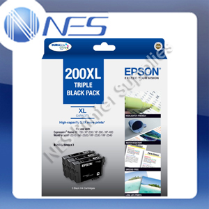Epson #200XL BLACK *Triple PACK* High Yield Ink Set for XP100/XP200/XP310/XP410/WF2530/WF2540 P/N:T201194