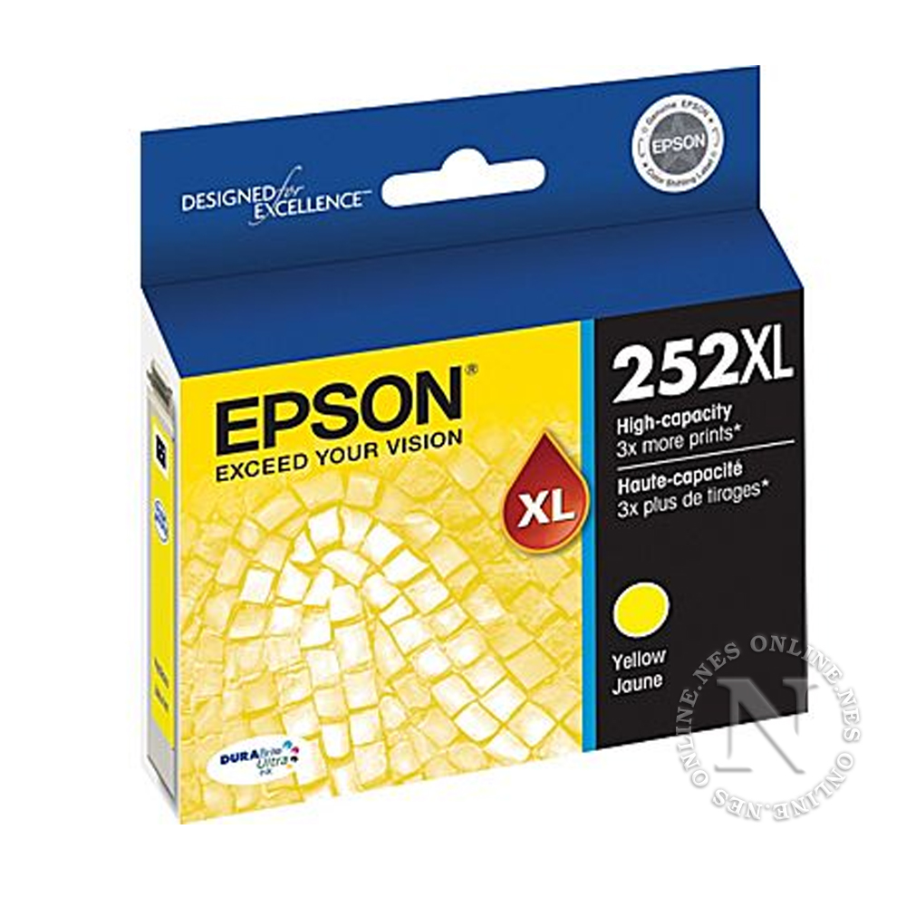 Epson Genuine 252XL YELLOW High Yield Ink Cart T252->WF-3620/WF-3640/WF-7610/WF-7620 T253492