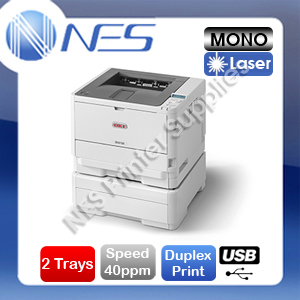 OKI B412DN Mono Laser Network USB Printer and Second Paper Tray RRP$596.02 [45762003+44575714]