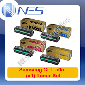 Samsung Genuine CLT-K505L/C505L/M505L/Y505L (Set of 4) Toner Cartridges for SL-C2620DW/SL-C2670FW/SL-C2680FX