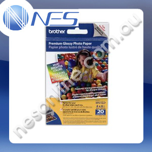 "Brother BP61GLP 4""x6"" Glossy Photo Paper 190gsm 20x Sheets [BP61GLP] ***FREE SHIPPING!***"