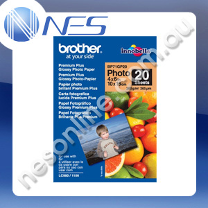 "Brother BP71GP20 4""x6"" Premium Plus Glossy Paper 20x Sheets for DCP-145C/16 [BP71GP20] ***FREE SHIPPING!***"