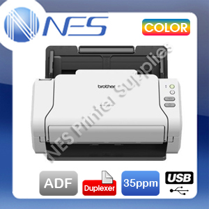 Brother ADS-2200 Desktop Sheetfed Colour USB Document Scanner+Duplex+ADF 35PPM