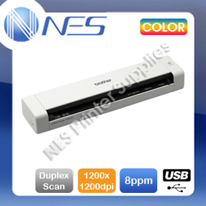 Brother DS-720D Portable A4 Single Sheet Document Mobile Color Scanner+Duplexer
