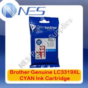 Brother Genuine LC3319XL-C CYAN High Yield Color Ink Cartridge for MFC-J5330DW/MFC-J5730DW/MFC-J6530DW/MFC-J6730DW/MFC-J6930DW (1500 Pages)