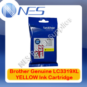 Brother Genuine LC3319XL-Y YELLOW High Yield Color Ink Cartridge for MFC-J5330DW/MFC-J5730DW/MFC-J6530DW/MFC-J6730DW/MFC-J6930DW (1500 Pages)