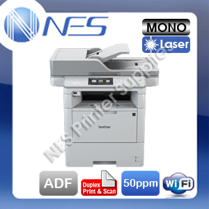 Brother MFC-L6900DW 4-in-1 Mono Laser Wireless Printer+Duplex Print/Scan+FAX+ADF