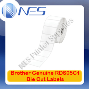 Brother Genuine RD-S05C1 51x25mm 1500x Die Cut Labels for TD-4000/TD-2020 (3PK)