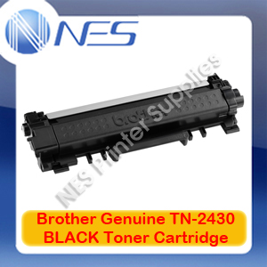 Brother Genuine TN-2430 BLACK Toner Cartridge for HL-L2350DW/2375DW/2395DW (1.2K) TN2430
