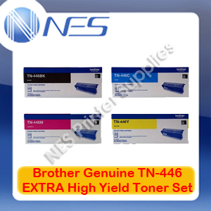 Brother Genuine TN-446 BK/C/M/Y (Set of 4) EXTRA High Yield Toner Cartridge for HL-L8360CDW/HL-L9310CDW/MFC-L8900CDW/MFC-L9570CDW