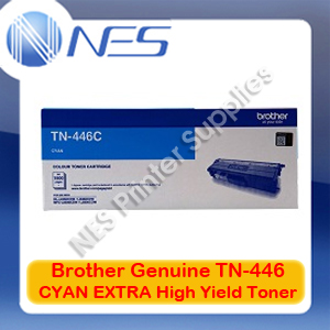 Brother Genuine TN-446C CYAN EXTRA High Yield Toner Cartridge for HL-L8360CDW/HL-L9310CDW/MFC-L8900CDW/MFC-L9570CDW (6.5K)