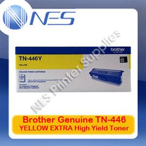 Brother Genuine TN-446Y YELLOW EXTRA High Yield Toner Cartridge for HL-L8360CDW/HL-L9310CDW/MFC-L8900CDW/MFC-L9570CDW (6.5K)