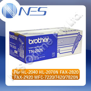 Brother Genuine TN2025 Black Toner Cartridge for Brother HL-2040 MFC-7220 (2.5K Yield)