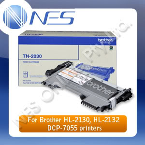 Brother Genuine TN2030 BLACK Toner Cartridge for HL-2130/HL-2132/DCP-7055 Printer (1,000 Pages) [P/N:TN-2030]