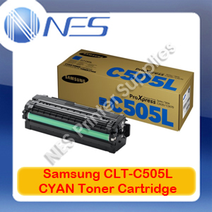 Samsung Genuine CLT-C505L CYAN High Yield Toner Cartridge for SL-C2620DW/SL-C2670FW/SL-C2680FX (3.5K) SU036A