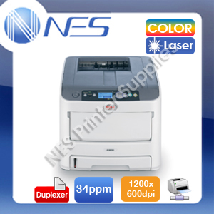 OKI C610dn Color Laser 1.2m Banner Network Printer+Auto Duplex+3-Yr Wty 34ppm