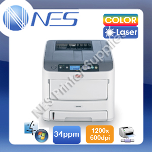 OKI C610/C610n Network Color Laser Printer 34PPM+3-Yr Wty+1.2m Banner Print