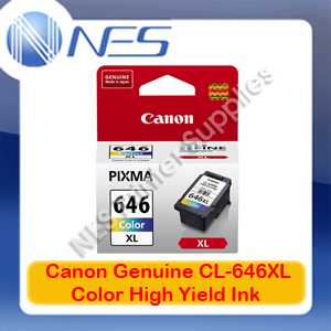 Canon CL-646XL Genuine Tri-Color Ink Cartridge High Yield for MG2560 Printer 400xPages [CL646XL]