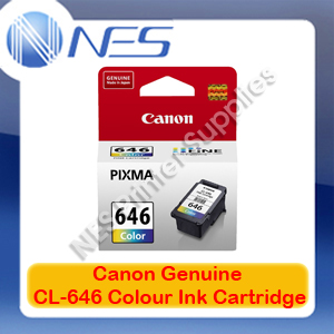 Canon CL-646 Genuine Tri-Color Ink Cartridge Standard Yield for MG2560 Printer 180xPages [CL646]
