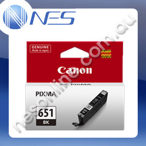Canon Genuine CLI651BK BLACK Pigment Ink Cartridge/Tank for IP7260/MG5460/MG6360 [CLI-651BK]