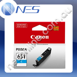 Canon Genuine CLI651C CYAN Pigment Ink Cartridge/Tank for IP7260 MG5460 MG6360 [CLI-651C]