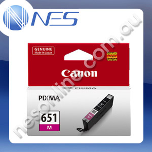 Canon Genuine CLI651M MAGENTA Pigment Ink Cartridge/Tank for IP7260 MG5460 MG6360 [CLI-651M]