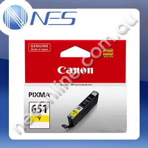 Canon Genuine CLI651Y YELLOW Pigment Ink Cartridge/Tank for IP7260 MG5460 MG6360 [CLI-651Y]