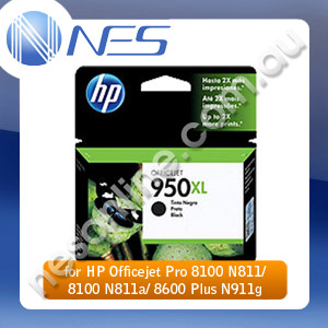 HP Genuine CN045AA #950XL High Yield BLACK INK for HP Officejet Pro 8100 N811/8100 N811a/8600 Plus N911q (2.5K Yield)