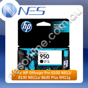 HP Genuine CN049AA #950 Black Ink for HP Officejet Pro 8100 N811/  8100 N811a/ 8600 Plus N911g (1.1K Yield)
