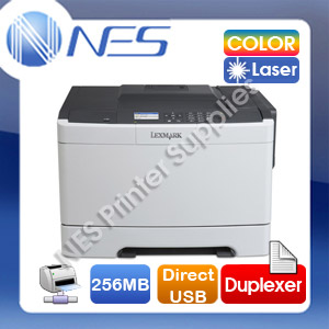 Lexmark CS410dn Color Laser Network Printer + Duplex + Direct USB / Optional: TWO Paper Trays [28D0081]