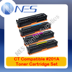 CT Compatible #201A BK/C/M/Y (Set of 4) Toner Cartridge for HP M274n/M277dw/M252dw [CF400A-CF403A]