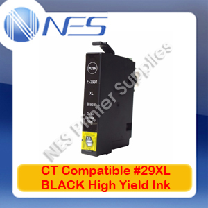 CT Compatible #29XL BLACK High Yield Ink Cartridge for Epson XP-235/XP-245/XP-432/XP-442 [C13T299192]