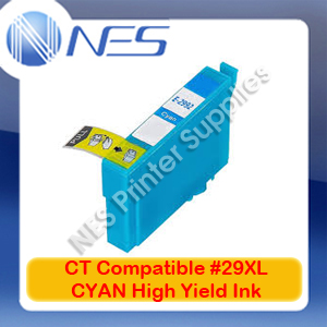 CT Compatible #29XL CYAN High Yield Ink Cartridge for Epson XP-235/XP-245/XP-432/XP-442 [C13T299292]