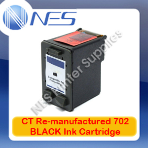 CT Re-manufactured #702 BLACK Ink Cartridge for HP Officejet J3508/J3608/J3680/J5508 [CC660AA]