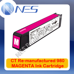 CT Re-manufactured 980 MAGENTA Ink Cartridge for HP Officejet X555/X555dn/X555xh/X585/X585dn/X585f/X585z [D8J08A] 6.6K