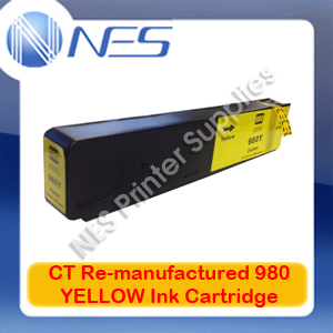 CT Re-manufactured 980 YELLOW Ink Cartridge for HP Officejet X555/X555dn/X555xh/X585/X585dn/X585f/X585z [D8J09A] 6.6K