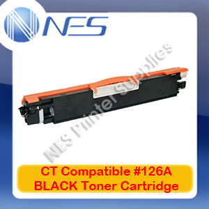 CT Compatible #126A BLACK Toner Cartridge for LaserJet CP1025/M175a/M175nw/M275nw [CE310A] 1.2K