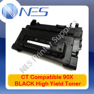 CT Compatible #90X BLACK High Yield Toner Cartridge for HP LaserJet M602dn/M602n/M602x/M603dn/M603n/M603xh/M4555f/M4555fskm/M4555h [CE390X] 24K