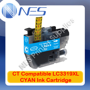 CT Compatible LC3319XL-C CYAN High Yield Ink Cartridge for Brother MFC-J5330DW/J5730DW/J6530DW (1.5K)