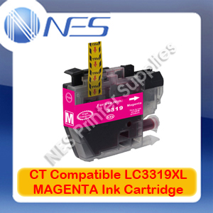 CT Compatible LC3319XL-M MAGENTA High Yield Ink Cartridge for Brother MFC-J5330DW/J5730DW/J6530DW (1.5K)