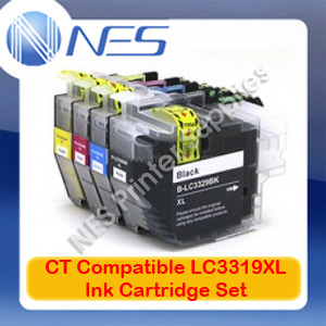 CT Compatible LC-3319XL BK/C/M/Y (Set of 4) High Yield Ink Cartridge for Brother MFC-J5330DW/6930DW/5730DW