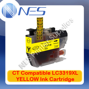 CT Compatible LC3319XL-Y YELLOW High Yield Ink Cartridge for Brother MFC-J5330DW/J5730DW/J6530DW (1.5K)