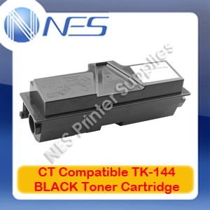 CT Compatible TK-144 BLACK Toner Cartridge for Kyocera FS-1100 (4K Pgs) TK144