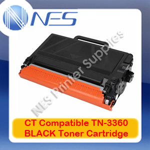 CT Compatible TN-3360 BLACK High Yield Toner Cartridge for Brother HL-6180DW/MFC-8950DW (12K)
