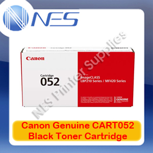 Canon Genuine CART052 BLACK Toner-->LBP212dw/LBP215x/MF426dw/MF429x [3100 Pages]