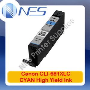 Canon Genuine CLI-681XL CYAN High Yield Ink Cartridge for TR7560/TR8560/TS6160/TS8160/TS9160