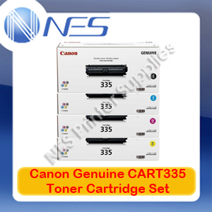 Canon Genuine CART335 BK/C/M/Y (Set of 4) Toner Cartridge for LBP841cdn/LBP843cx CART-335