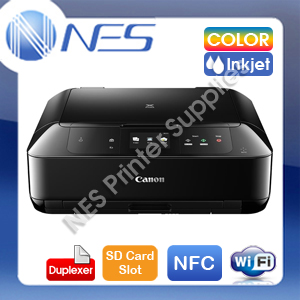 Canon MG7760-BK 3-in-1 Wireless Inkjet Printer+Duplex+NFC+CD/DVD Print+SD Slot